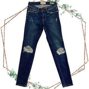 Frame le skinny de jeanne walgrove distressed jean